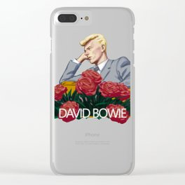 Dave and some flowers. Clear iPhone Case