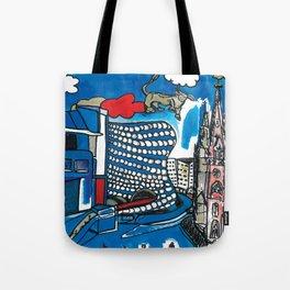A depiction of Birmingham, UK Tote Bag