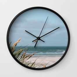Dunes of Holland | Landscape travel photography | Calm relax color sand nature ocean beach print  Wall Clock