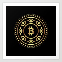 Bitcoin 2 Art Print