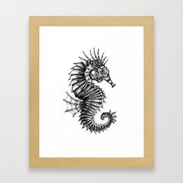Steampunk Seahorse Framed Art Print