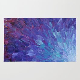 SCALES OF A DIFFERENT COLOR - Abstract Acrylic Painting Eggplant Sea Scales Ocean Waves Colorful Rug