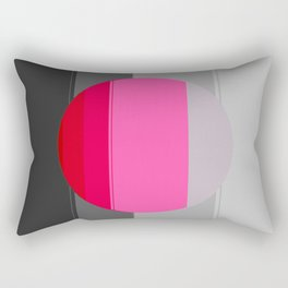 Modern Circle Pink Gray 2 Rectangular Pillow
