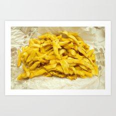 Chips Served in Paper Art Print
