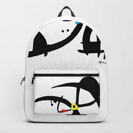 Joan Miro Two Characters Persecuted By A Bird, T Shirt, Art Backpack