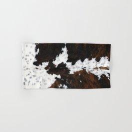 white and brown cow skin cowhide  fur Hand & Bath Towel