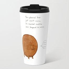 the spherical bear Travel Mug