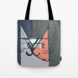Cubist Cat Study #1 by Friztin Tote Bag