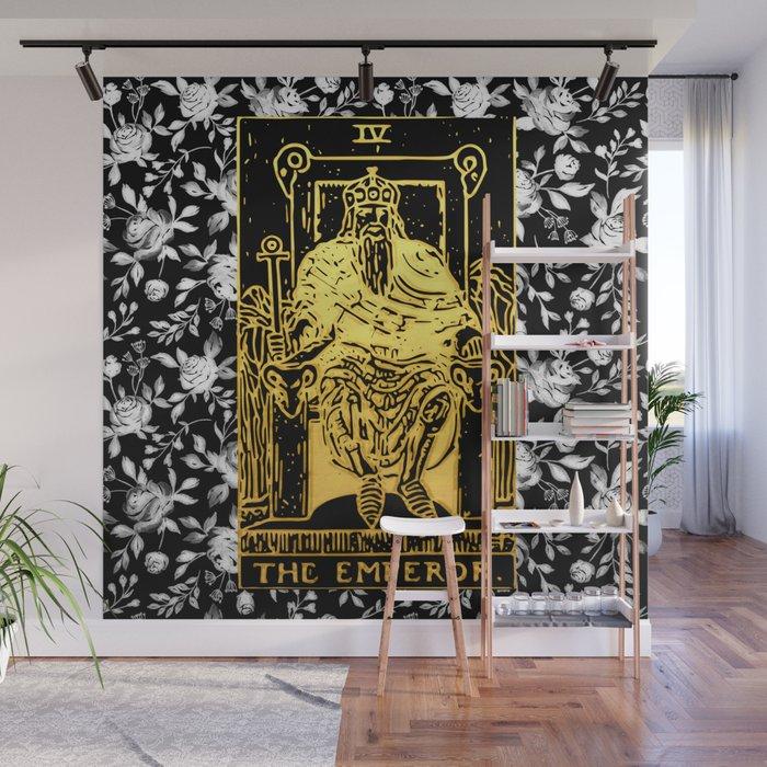 The Emperor - A Floral Tarot Print Wall Mural