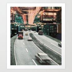 Motor Away Art Print