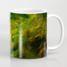 Fall Color Yard Full of Tree Branches Coffee Mug