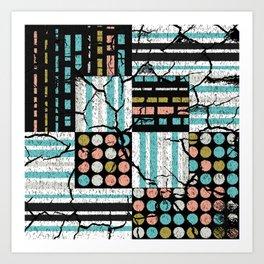 Distressed pattern Art Print