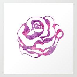Elegant beautiful pink rose Art Print