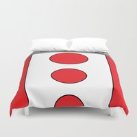 persona Duvet Covers featuring Persona 4 Teddie Suit by Bunny Frost