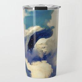 Woman and sky Travel Mug