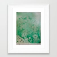 under the sea Framed Art Prints featuring Under The Sea by ANoelleJay