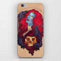 raven iPhone & iPod Skins featuring Raven by Megan Lara
