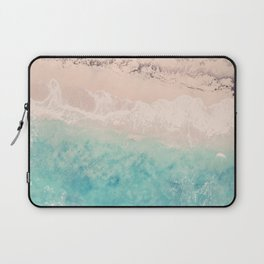 Aerial sea photography, exotic beach, fine art, wanderlust, coral reef, tropical landscape, summer Laptop Sleeve