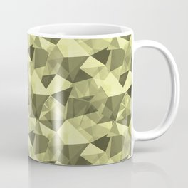 Abstract Geometrical Triangle Patterns 4 VA Lime Green - Lime Mousse - Bright Cactus Green - Celery Coffee Mug