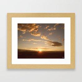 Kelowna Sunset Framed Art Print