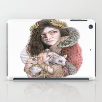 lorde iPad Cases featuring Lorde by Susan Lewis