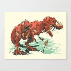 Nuclear t-Rex Canvas Print