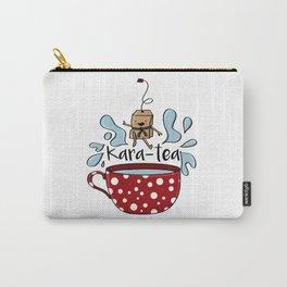 Karate Kara Tea Teabag Present Gift Cup Carry-All Pouch