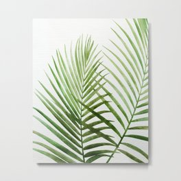 Fresh Palm Fronds Metal Print