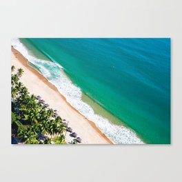 Aerial view of Nha Trang city beach Canvas Print