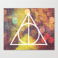 deathly hallows Canvas Prints featuring Deathly Hallows by Michal