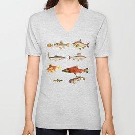 Fishing Line Unisex V-Neck
