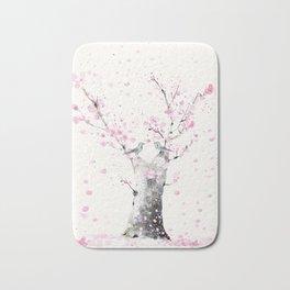 Cherry Blossoms And Birds Bath Mat