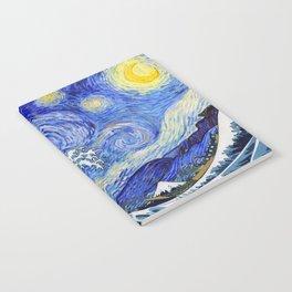 "Hokusai,""The Great Wave off Kanagawa"" + van Gogh,""Starry night"" Notebook"
