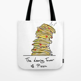 The Leaning Tower Of Pizza Tote Bag