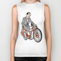 pee wee Biker Tanks featuring Pee Wee Herman by Michael Scarano
