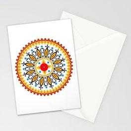 Mandala warm colour pallette Stationery Cards