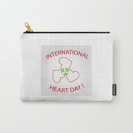 International Heart Day Carry-All Pouch