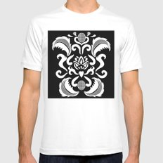 White_lace MEDIUM White Mens Fitted Tee