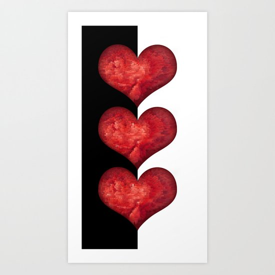 Heart Design 101 Art Print