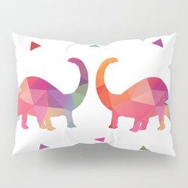 Geometric Dinosaurs Pillow Sham