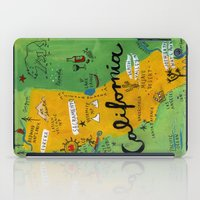 postcard iPad Cases featuring Postcard from California by Christiane Engel