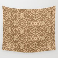 india Wall Tapestries featuring Vintage fancy  Pattern India by MehrFarbeimLeben