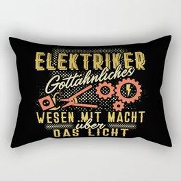Elektriker - Gottähnliches Wesen mit der Macht über Licht Rectangular Pillow