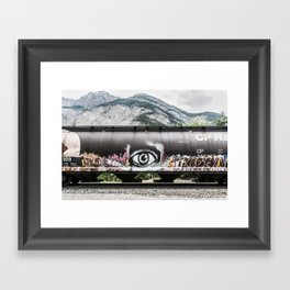 I see mountains Framed Art Print