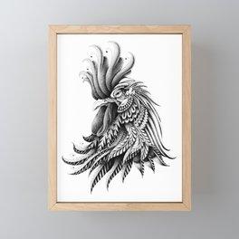 Ornately Decorated Rooster Framed Mini Art Print