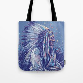 native american portrait-sitting bull Tote Bag