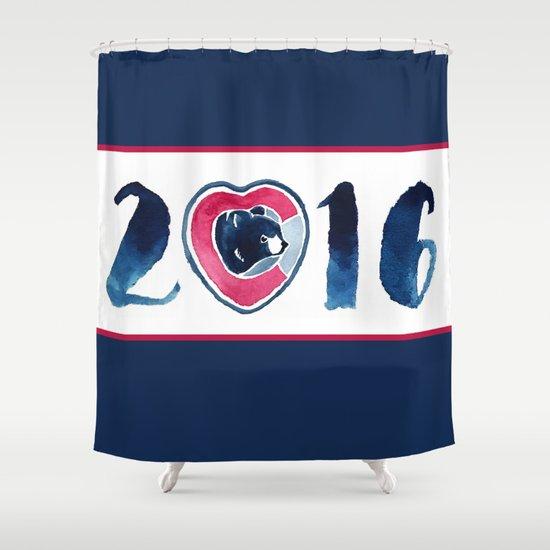 2016 World Series Champions Cubs Shower Curtain By Erinreadesign