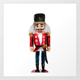 Watercolor nutcracker single  Art Print