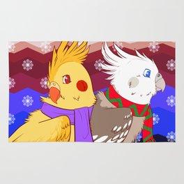 winter cockatiels Rug