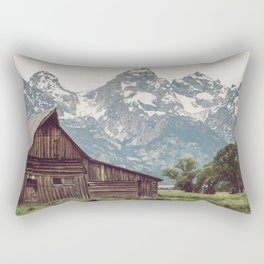 Grand Teton National Park Adventure Barn II - Landscape Photography Rectangular Pillow